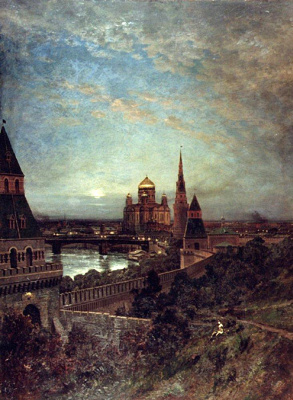 Alexey Petrovich Bogolyubov. View of Moscow in the evening