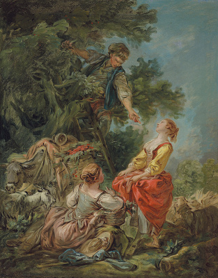 Jean-Honore Fragonard. Picking cherries