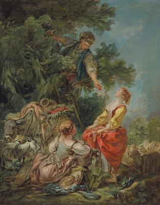 Jean Honore Fragonard. Picking cherries