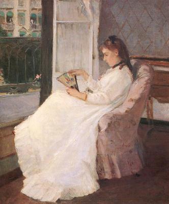 Berthe Morisot. The artist's sister in the window