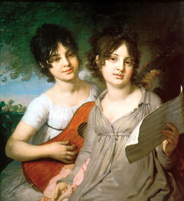 Vladimir Lukich Borovikovsky. Portrait of Princess Anna Gagarina and Princess Varvara Gagarina