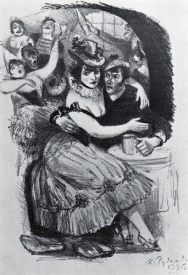 "Konstantin Ivanovich Rudakov. Illustration for the short story ""In port"""