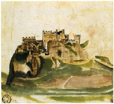Albrecht Durer. Castle in the Alps