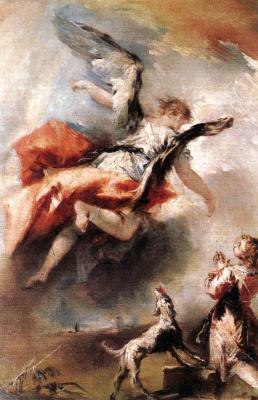 Джованни Антонио Гварди. Появление ангела Тобиасу
