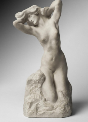 Auguste Rodin. Awakening. Venus behind the toilet