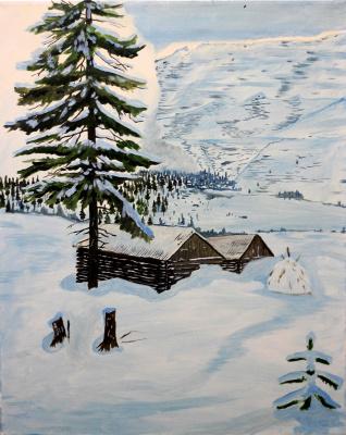 Vladimir Adamovich Ropot. Snowstorm approaching