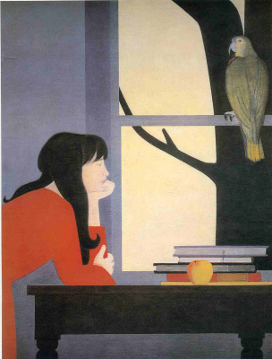 Will Barnet. The girl and the bird