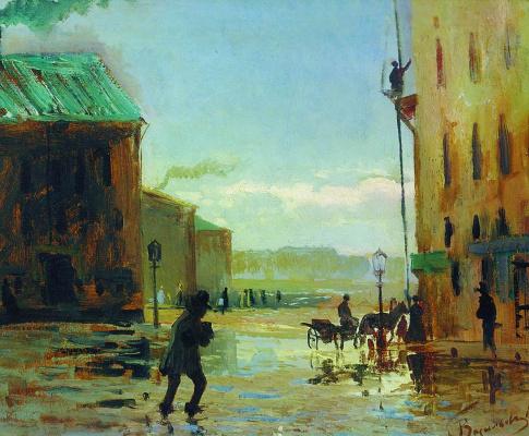 Фёдор Александрович Васильев. После дождя. Весна в Петербурге.