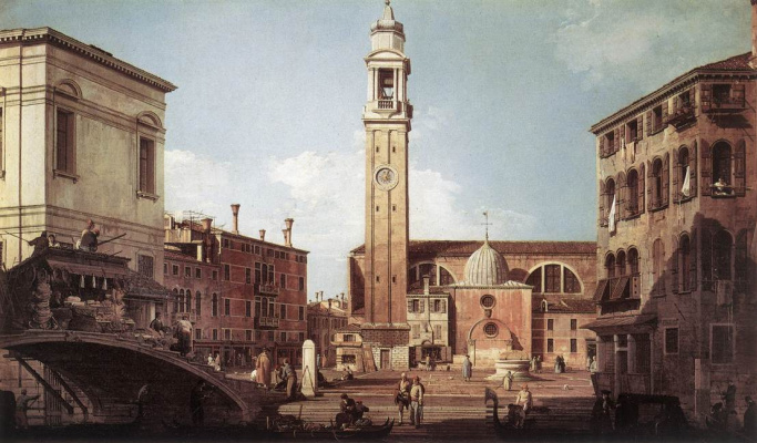 Giovanni Antonio Canal (Canaletto). View of the square of the Holy Apostles
