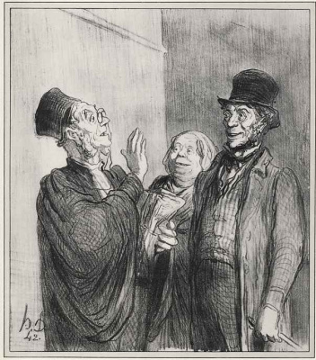 Honore Daumier. Don't worry, I also from Normandy