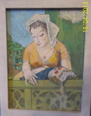 Р.И.  Стуруа. Женшина на балконе