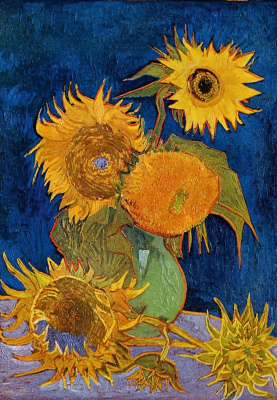 Vincent van Gogh. Vase with five sunflowers