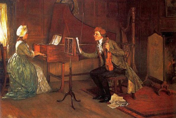 Francis Davis Millet. A difficult duet