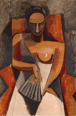 Pablo Picasso. Woman with a fan