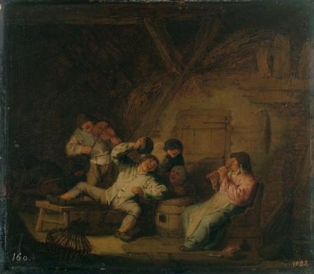 Adrian Jans van Ostade. Peasant concert with violin and flute