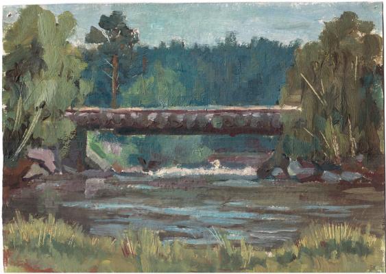 Аркадий Павлович Лаптев. Деревянный мост