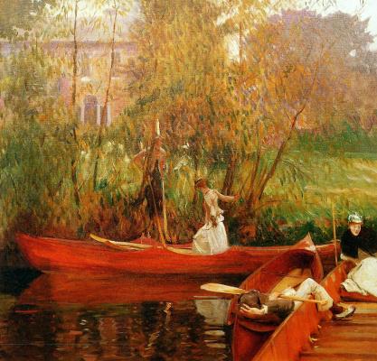 John Singer Sargent. Boat trip