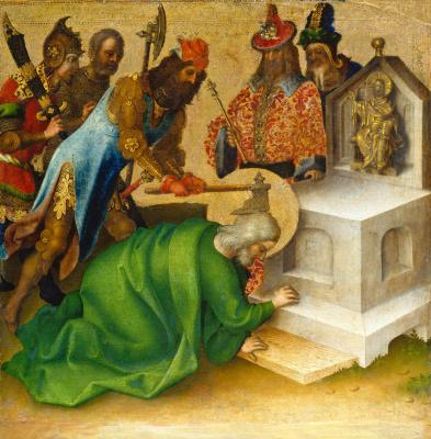 Stefan Lochner. Martyrdom of St. Matthias.