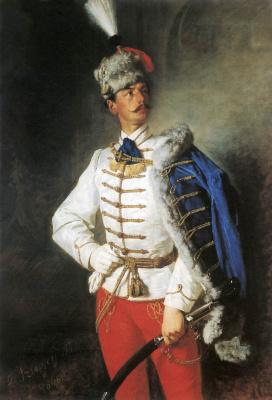 Pál Szinyei Merse. Portrait of Laszlo Signie-Merche