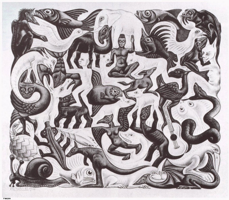 Maurits Cornelis Escher. Filled plane