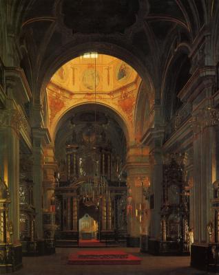 Сергей Константинович Зарянко. Внутренний вид морского Никольского собора в Петербурге