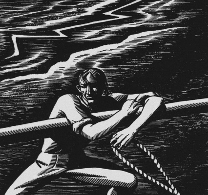 """Rockwell Kent. Illustration to the novel by H. Melville """"Moby dick"""""""