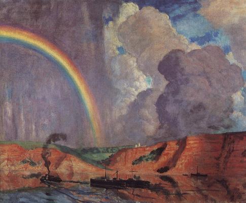 Boris Mikhailovich Kustodiev. Volga. Rainbow
