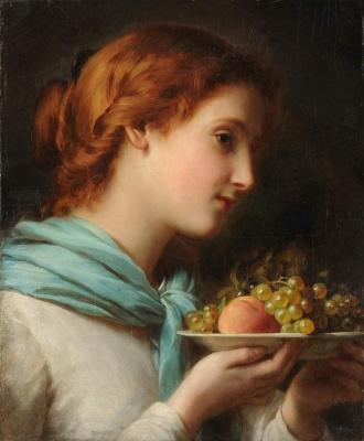 Franz Xaver Winterhalter. Girl with fruit