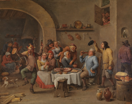 David Teniers the Younger. Twelfth Night. Drinking king