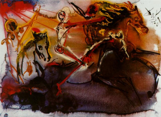Salvador Dali. Horseman Of The Apocalypse