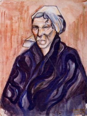 Луис Кастельянос. Портрет женщины в белой косынке