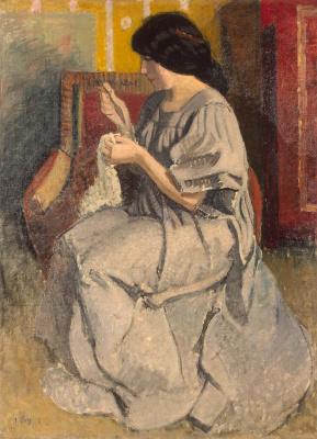 Жан Пюи. Портрет жены художника