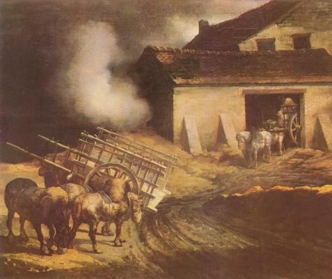 Théodore Géricault. Landscape with a kiln-lime