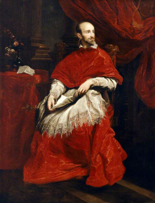 Anthony van Dyck. Portrait of cardinal Guido Bentivoglio