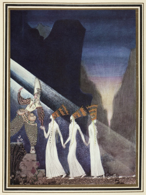 """Kay Nielsen. The release of three princesses. Illustration of the collection of fairy tales """"East of the sun West of the moon"""""""