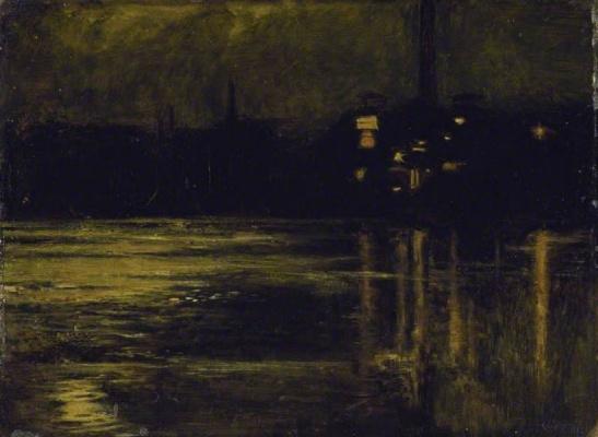 Уильям Холман Хант. Темза в Челси в вечернее время