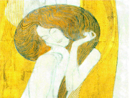 Gustav Klimt. Beethoven Frieze, Art (fragment)