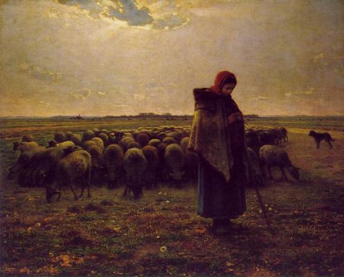 Жан-Франсуа Милле. Пастушка