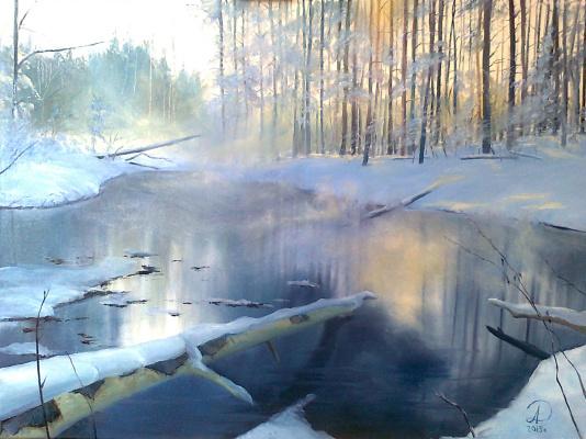 Дулат Абдульдинов. Зимний лес
