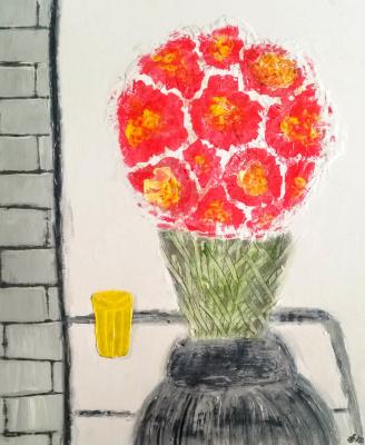 Bouquet with orange juice / Bouquet with orange juice