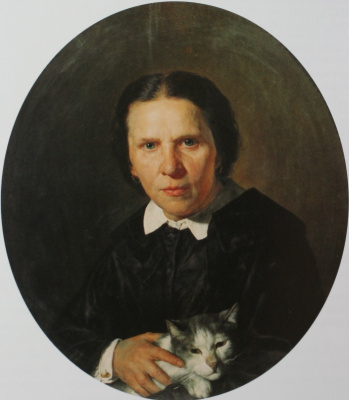 Nikolai Vasilyevich Nevrev. Portrait of A.D. Konshina. 1859