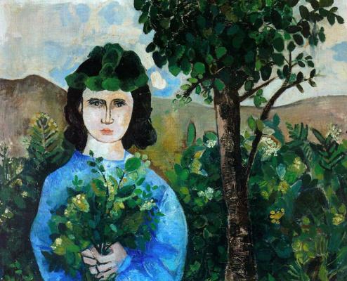 Данс Мария Антония Боадо. Девушка в синем