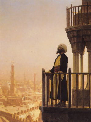 Jean-Leon Jerome. The call to prayer