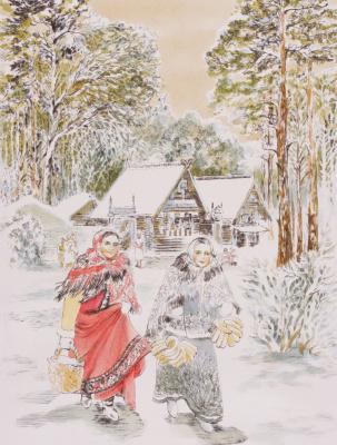 """Yuri Alekseevich Golenkov. """"Christmas holiday"""""""
