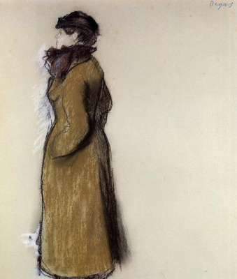 Edgar Degas. Portrait Of Helene Andre