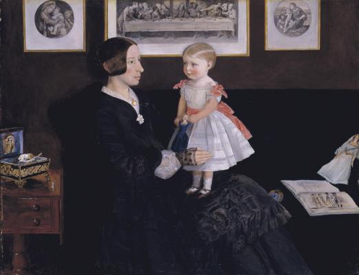John Everett Millais. Portrait of Mrs James Wyatt