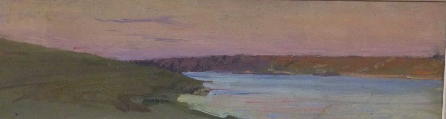 "Vyacheslav Andreevich Fedorov. ""Pink sunset""of the 1970s, K./M.,11х38"