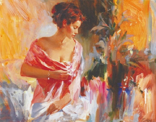 Ivan Efimovich Slavinsky. Lady in Red