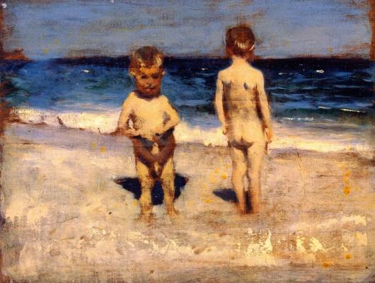 Джон Сингер Сарджент. Два мальчика на пляже в Неаполе