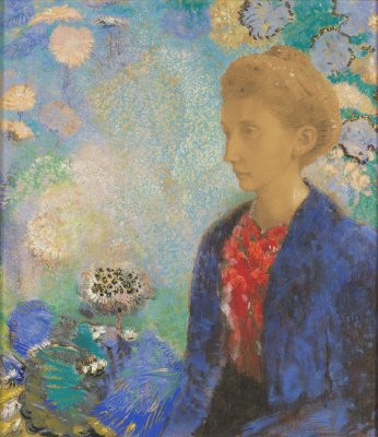Odilon Redon. Portrait of the Baroness, Domi